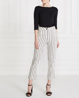 stripe Gallery Stripe Linen Blend Trousers