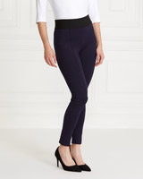 navy Gallery Ponte Stretch Waist Trousers