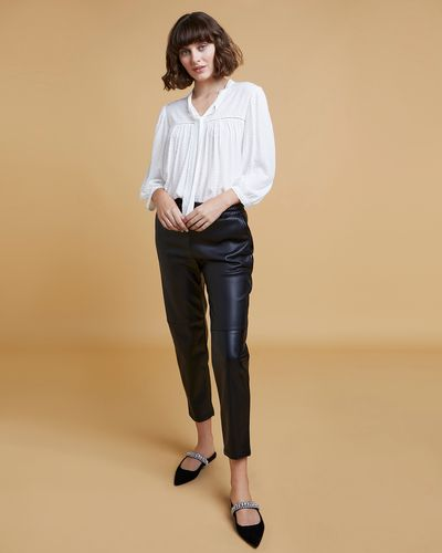 Gallery Faux Leather Jogger