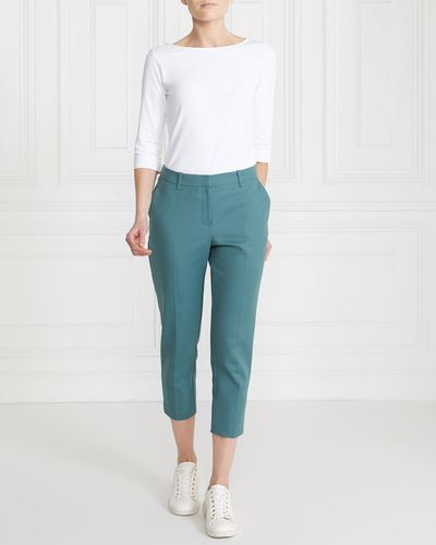 Gallery Compact Cotton Cropped Trousers thumbnail