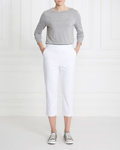 Gallery Compact Cotton Cropped Trousers
