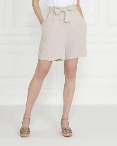 Gallery Linen Blend Shorts