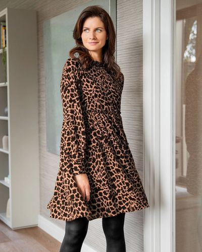 Gallery Animal Tiered Dress