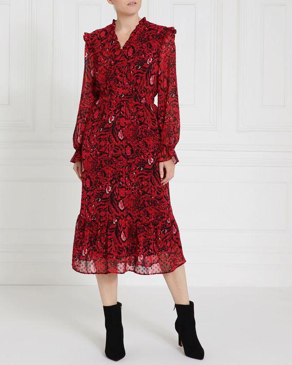 Gallery Ruffle Dobby Dress