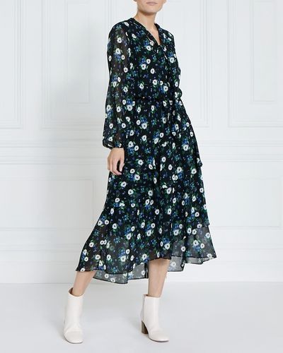 Gallery Tie Neck Dress