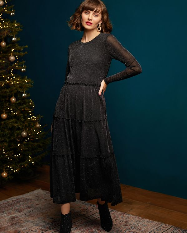 Gallery Mistletoe Lurex Maxi Dress