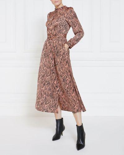 Gallery Zebra Shirt Dress
