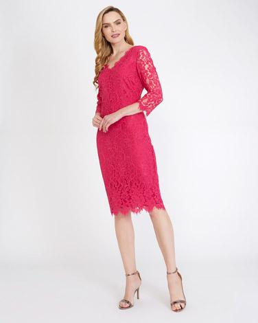 pinkGallery V-Neck Lace Dress