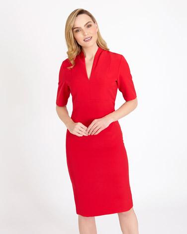 redGallery Angled Dart Dress