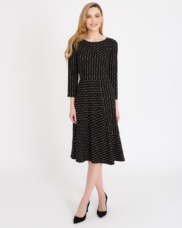 black-whiteGallery Mono Print Dress