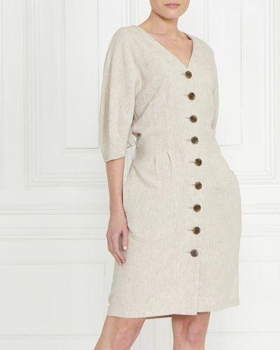 Gallery Linen Blend Dress