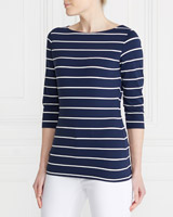 navy Gallery Thin Stripe Top