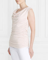 blush Gallery Ruched Vest