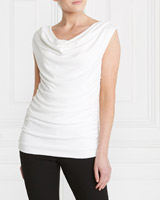 ivory Gallery Ruched Vest
