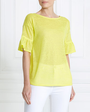 lime Gallery Tie Back Top