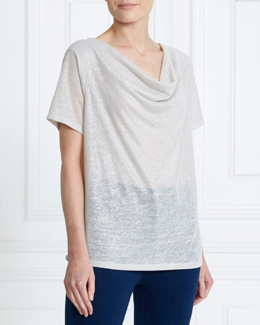 silver Gallery Cowl Neck Top