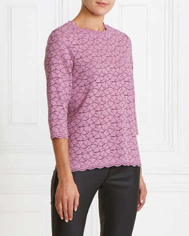 purple Gallery Lace Top