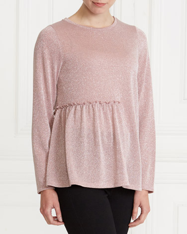 blush Gallery Side Frill Top