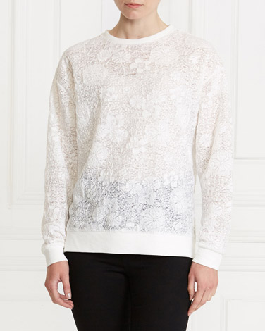 ivory Gallery Lace Sweater