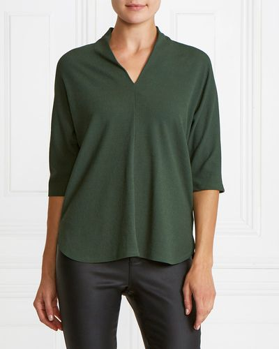 Gallery Textured V-Neck Top thumbnail
