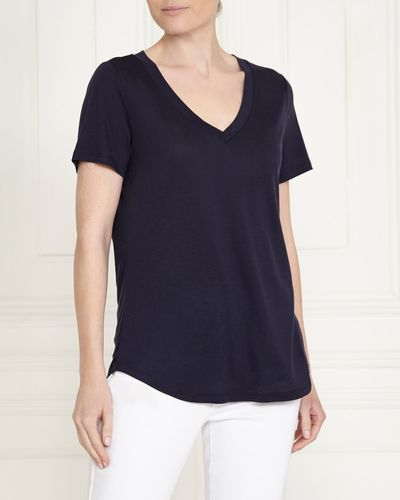 Gallery Pure Tencel V-Neck Top
