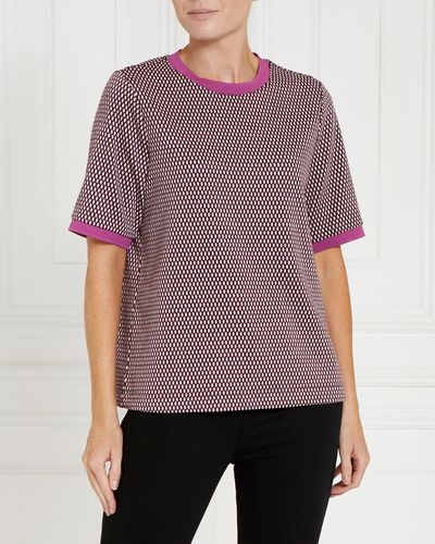 Gallery Short Sleeve Jacquard Jumper