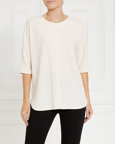 Gallery Textured Round Neck Top