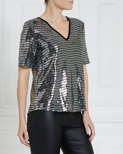 Gallery Sequin Top