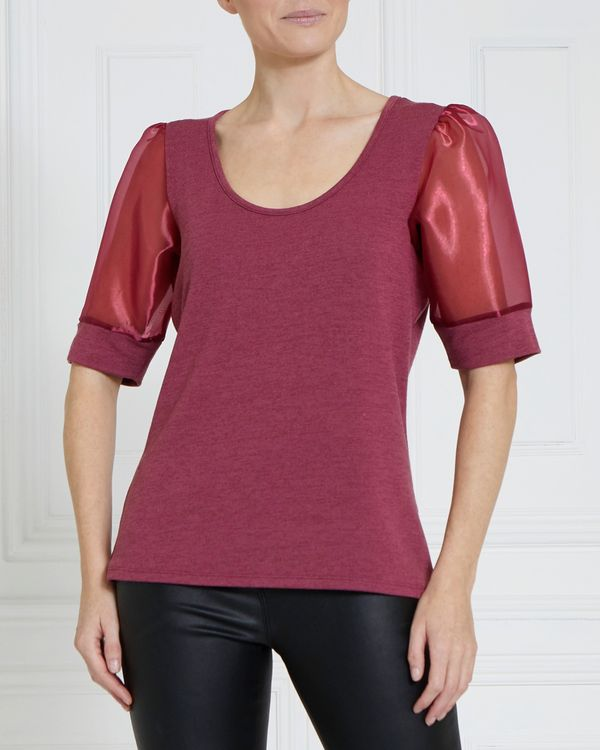 Gallery Organza Sleeve Top