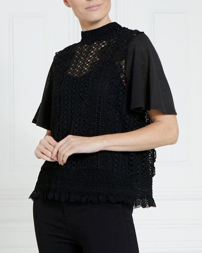 Gallery Sheered Lace Top thumbnail