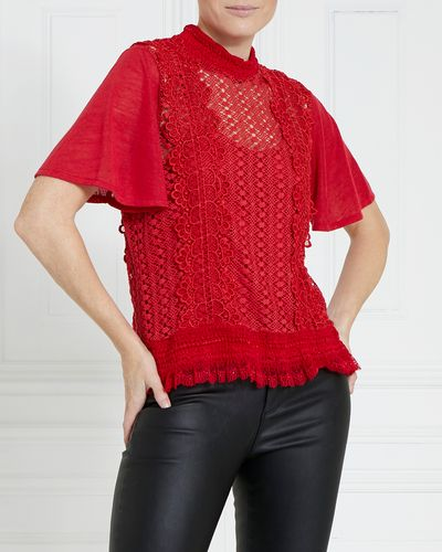 Gallery Sheered Lace Top