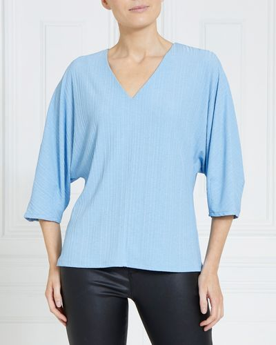 Gallery V-Neck Pleat Top