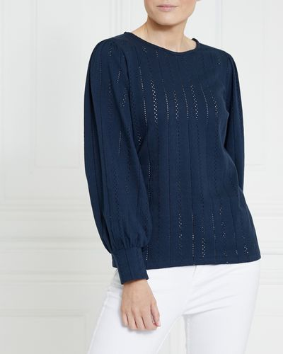 Gallery Organic Cotton Pointelle Top