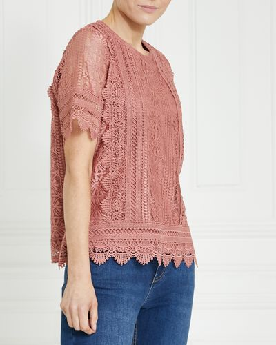 Gallery Short-Sleeved Lace Top