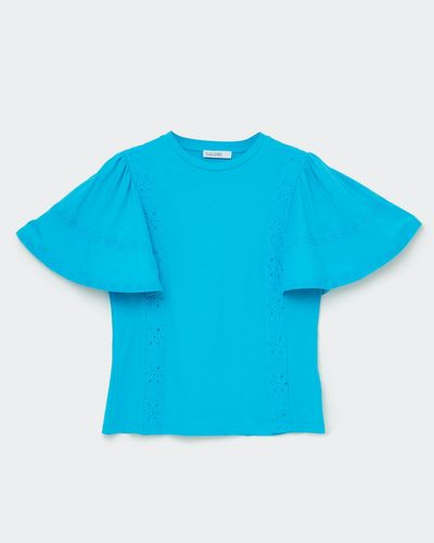 Gallery Broiderie Sleeve T-Shirt