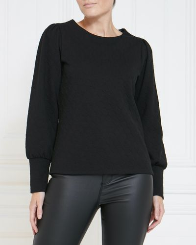 Gallery Jacquard Puff Sleeve Top thumbnail