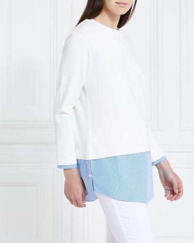 Gallery Poplin Hem Sweater