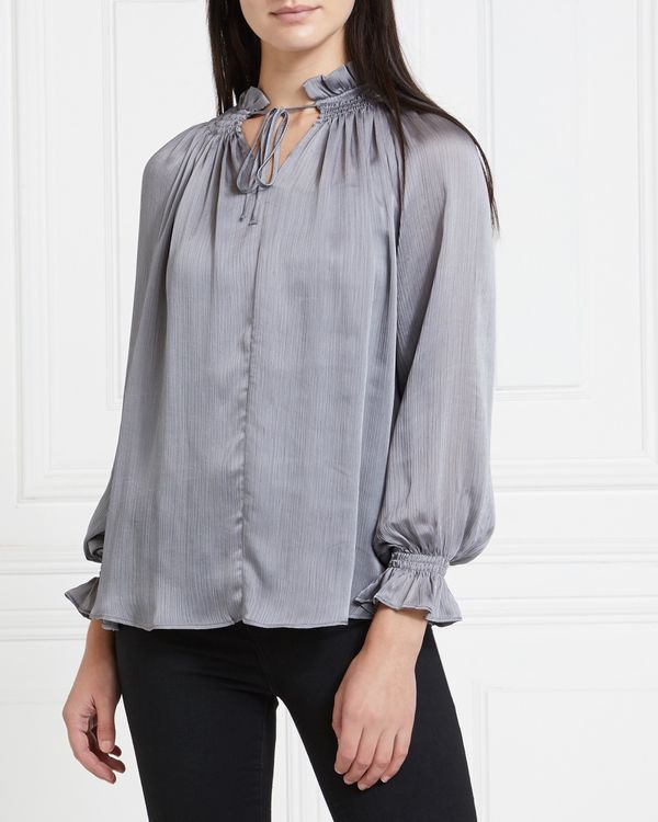 Gallery Mistletoe Tie Neck Top