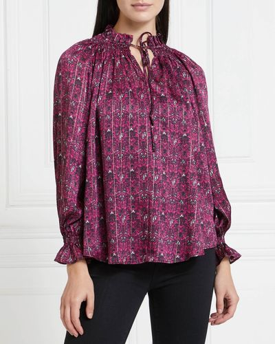 Gallery Mistletoe Foil Print Top