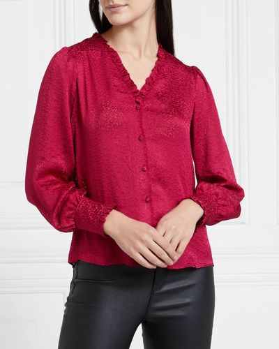 Gallery Mistletoe Burnout Top