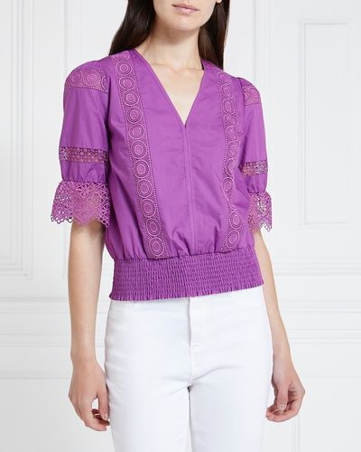 Gallery Seville Shirred Top