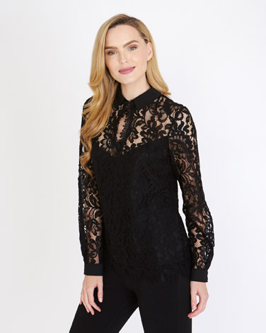 blackGallery Lace Shirt