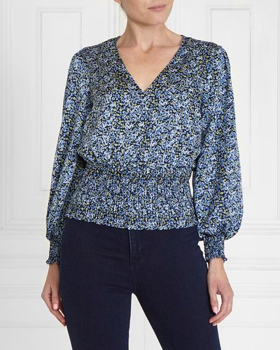 Gallery Shirred Waist Blouse