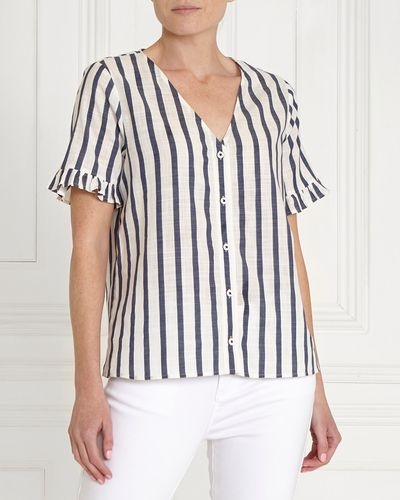 Gallery Stripe Button Top
