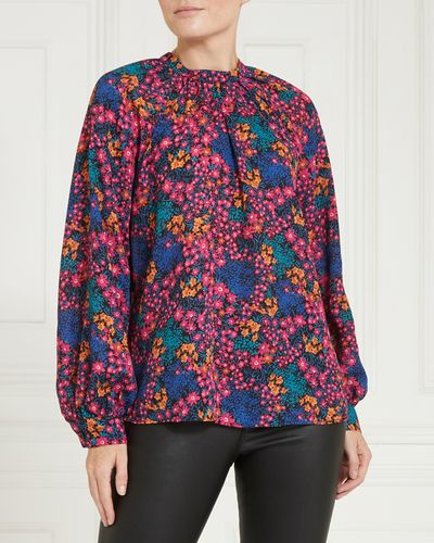 Gallery High-Neck Long Sleeve Top