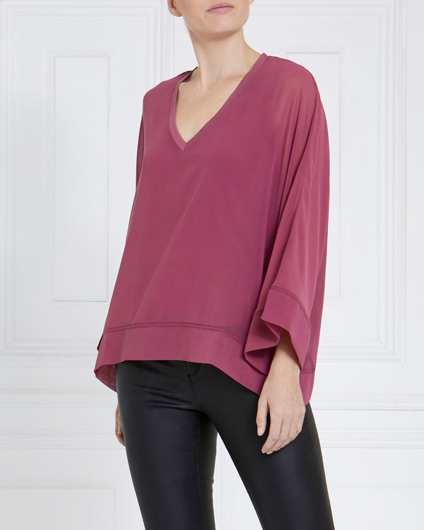 Gallery Chiffon V-Neck Top