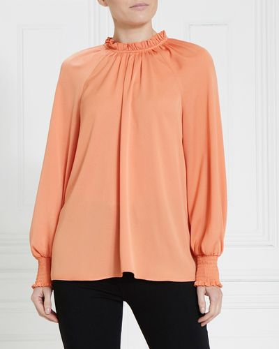 Gallery Ruffle Neck Top