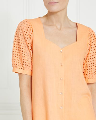 Gallery V-Neck Linen Top