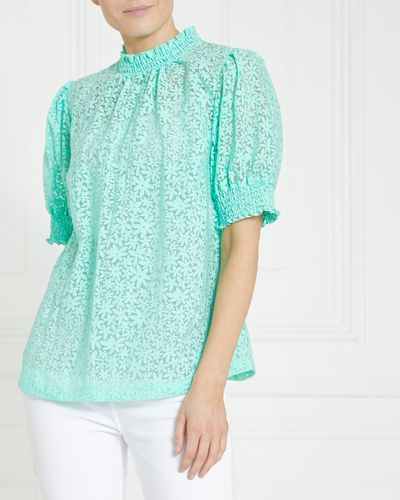 Gallery Shirred Neck Top