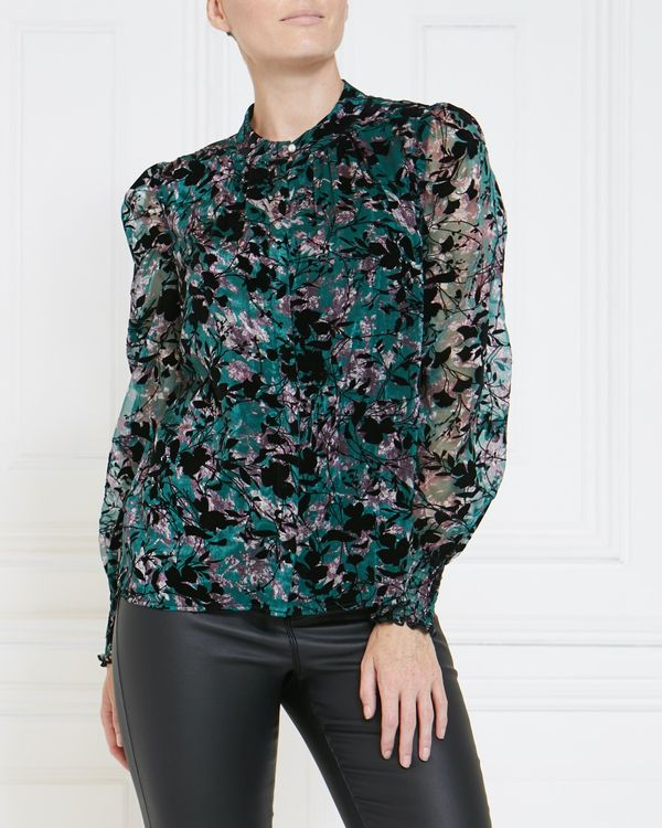 Gallery Flocked Blouse